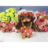 Monchhichi SS Size Plush 15cm Mascot Keychain - Streetway Sun Dress Girl 29299