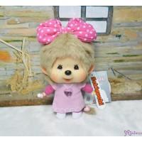 Sekiguchi Monchhichi Big Head MCC Mascot Keychain - Butterfly Bow Girl 293900
