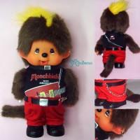Monchhichi S Size Plush Doll DJ Rock Music Air Guitar Boy 293990