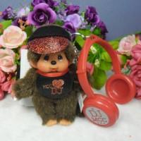Monchhichi Disc Jockey MCC DJ Mascot Keychain - Boy 294150