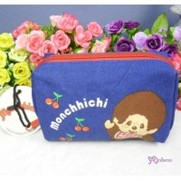 Monchhichi Pouch MCC Small Bag with Zipper 30015A