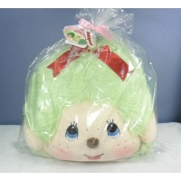 Japan Tokyo Expo Limited Monchhichi Cushion MCC Big Head Lt. Green 305191
