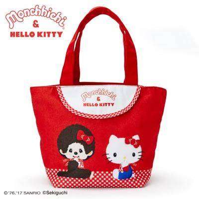 Hello Kitty x Monchhichi Canvas Bag 31x 14cm Strap Handbag 324110
