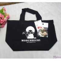 Monchhichi Tote Bag 100% Cotton Eco Handbag Ecobag NAVY + Badge 40681