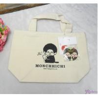 Monchhichi Tote Bag 100% Cotton Eco Handbag Ecobag BEIGE + Badge 40704
