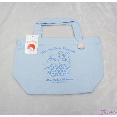 Monchhichi & Chimutan Bag 100% Cotton Chim Tan Eco Handbag Blue 41039