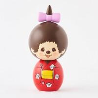 Monchhichi Kokeshi Japan Hand Made Craft Wooden Doll Ver 2 Kimono Girl 444506