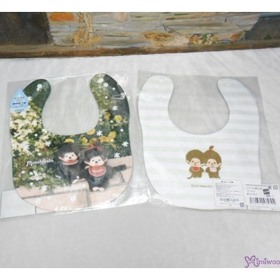 Monchhichi 2-Side Print Baby Bib 23x29cm Style B (Made in Japan) 475704