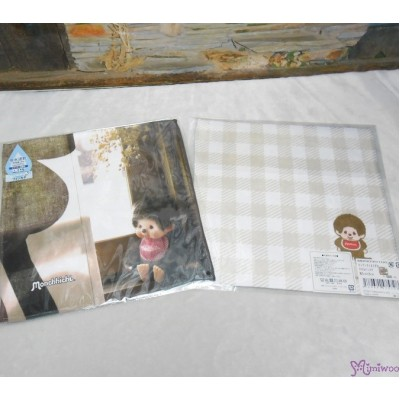 Monchhichi 2-Side Print Baby Handkerchief L Size Style C (Made in Japan) 475728