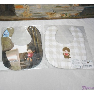 Monchhichi 2-Side Print Baby Bib 23x29cm Style C (Made in Japan) 475759