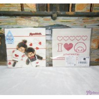 Monchhichi 2-Side Print Baby Handkerchief M Size Style F (Made in Japan) 475988
