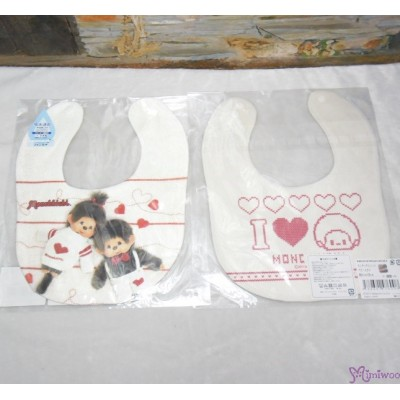 Monchhichi 2-Side Print Baby Bib 23x29cm Style F (Made in Japan) 476008
