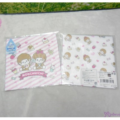 Monchhichi 2-Side Print Baby Handkerchief M Size Style N (Made in Japan) 476275