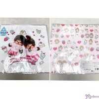 Monchhichi 2-Side Print Baby Handkerchief L Size Style K (Made in Japan) 476336