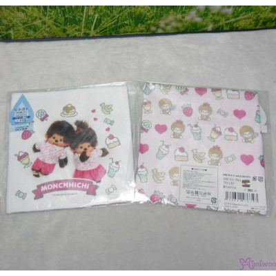 Monchhichi 2-Side Print Baby Handkerchief M Size Style K (Made in Japan) 476343