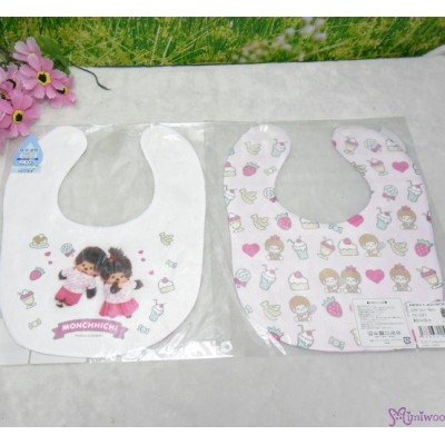 Monchhichi 2-Side Print Baby Bib 23x29cm Style K (Made in Japan) 476367