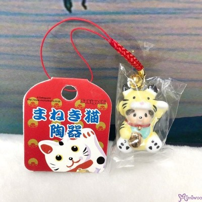Monchhichi Mascot Ceramics Lucky Cat Phone Strap Yellow 499000