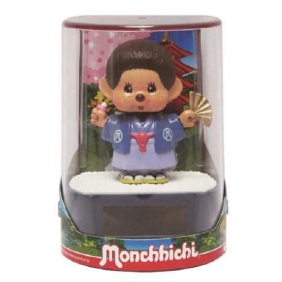 Monchhichi Solar Powered Bobblehead Toy Eco Figure Nohohon Kimono 5711
