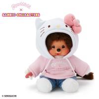 Hello Kitty x Monchhichi S Size 16cm Sitting Plush 6818