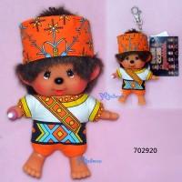 Monchhichi SS Size Big Head Plush Mascot Keychain Chinese Tribe Amis 702920