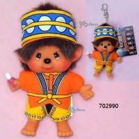 Monchhichi SS Size Big Head Plush Mascot Keychain Chinese Tribe Tsou 702990