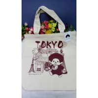 Monchhichi Tote Bag 33 x 35cm Nylon Eco Bag - Kaminarimon 720131