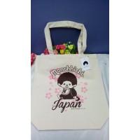 Monchhichi Tote Bag 33 x 35cm Nylon Eco Bag - Sakura 720148