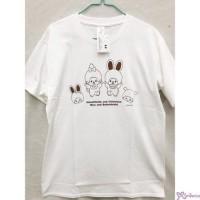 Monchhichi & Chimutan 100% Cotton Fashion Adult Tee White M Size 725020