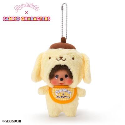 Pom Pom Purin x Monchhichi 15cm Plush Mascot 7518