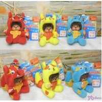 Monchhichi Mascot  Japan Okinawa Limited Mni Phone Strap Shisa 3pcs Set 780930+780950+780960