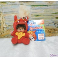 Monchhichi Mascot  Japan Okinawa Limited Mni Phone Strap Shisa Red 780930