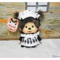 Monchhichi Big Head Tokyo Akihabara Limited Maid Plush Keychain Mascot Black 787753