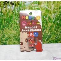 Monchhichi 3cm Mini Plastic Mascot Phone Strap Rody Horse Red #789510