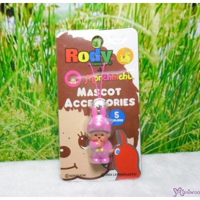 Monchhichi 3cm Mini Plastic Mascot Phone Strap Rody Horse Pink #789530