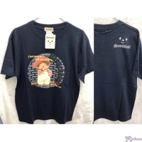 Monchhichi 100% Cotton Fashion Adult Tee Navy L Size 824L-C