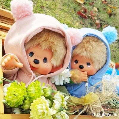 Monchhichi M Size SFOS Japan Shop Limited MCC Bear Ear Hooded Coat (PAIR) 829521+829538