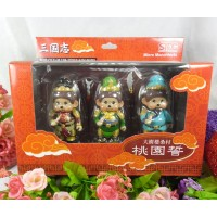 Micro Monchhichi 8cm Figure Set - Chinese Romance of the Three Kingdoms 831700