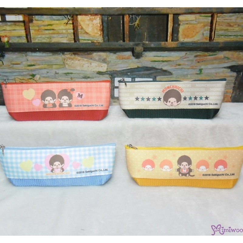 Monchhichi 2-Side Pen Bag 20cm Handbag YELLOW ~ Made in JAPAN ~ 983517 fa1311a290fbc