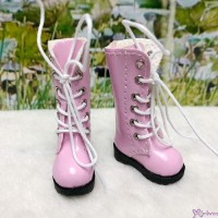 16cm Lati Yellow Blythe Pullip Shoes PU Leather Long Boots Pink LYS026PNK