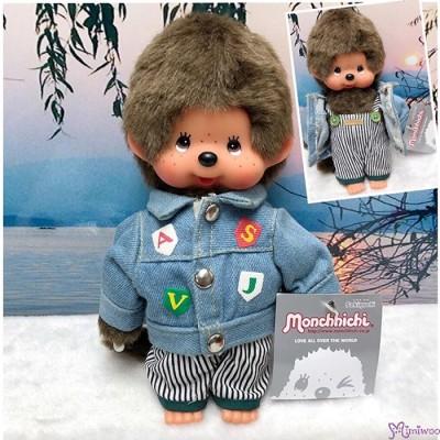 Monchhichi S Size Plush Autumn Wear Fashion Boy Jeans Jacket & Pants MC012