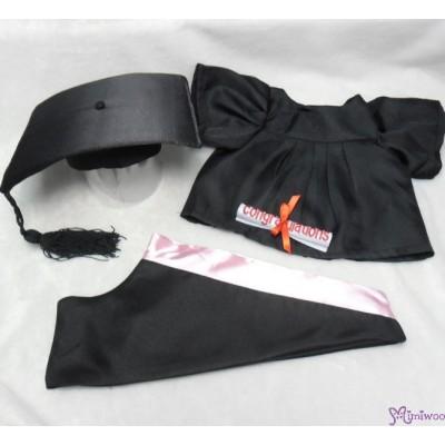 Monchhichi L Size Graduation Gown Pink + Hat with 40cm Premium MCC Boy MCG