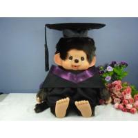 Monchhichi L Size Graduation Gown Purple + Hat with 40cm Premium MCC Boy 畢業 MCG