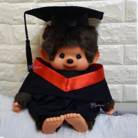 Monchhichi L Size Graduation Gown Red + Hat with 40cm Premium MCC Boy 畢業 MCG