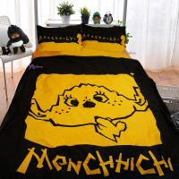 Monchhichi Bedding 100% Cotton Quilt Cover, Pillow Case and Fitted Sheet (Full Double) PSB003F