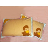 Monchhichi Bedding 100% Cotton Pillow Case Brown (2pcs) PSC002BRN