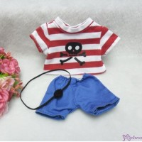 Monchhichi S Size Boutique MCC Outfit Fashion Pirate (Tee + Pants) RT-31