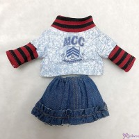 Monchhichi S Size Boutique Outfit School Wear Top + Jeans Skirt RT-40