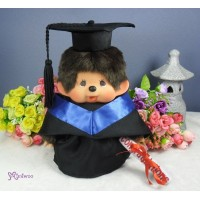 Monchhichi Premium MCC M Size Boy with Graduation Gown Purple RX014-PUE