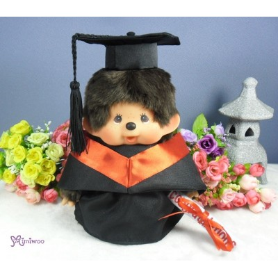 Monchhichi Premium MCC M Size Boy with Graduation Gown Red RX014-RED+226344