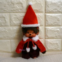 Monchhichi S Size Boutique MCC Outfit - Christmas X'mas Hat & Cape RX016-RED